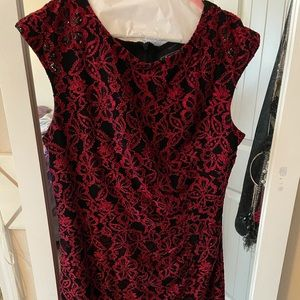 Alex Evenings red dress